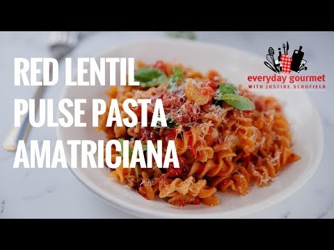 Pulse Pasta Red Lentils Spirals Amatriciana | Everyday Gourmet S8 E22