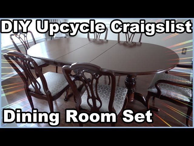 Restoring A Dining Room Set From Craigslist Youtube