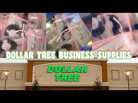 LIPGLOSS/LASHES CUSTOM PACKAGING & STICKERS UNDER $30 | VLOG DOLLAR TREE  HAUL