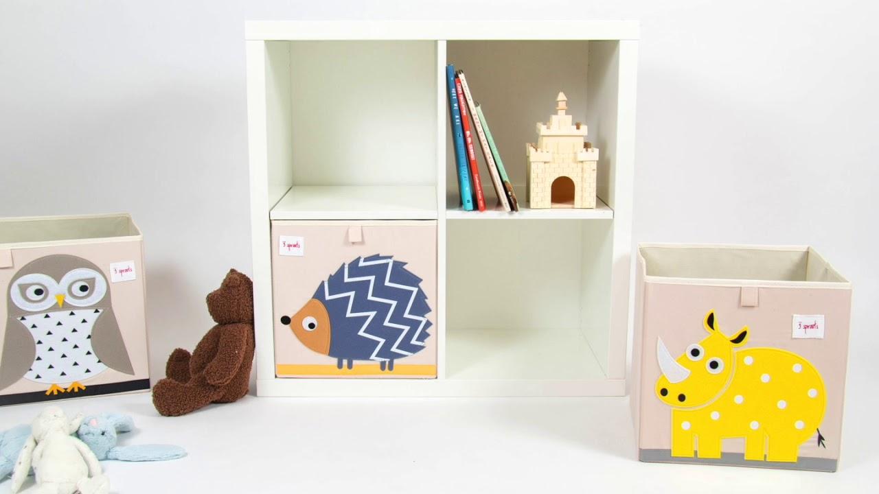 3sprouts Pudełka Na Zabawki Do Półki Ikea Porządek W Pokoju Dziecka