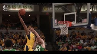 Myles Turner BAPTIZES Gordon Hayward With Monster Poster Dunk in Game 4