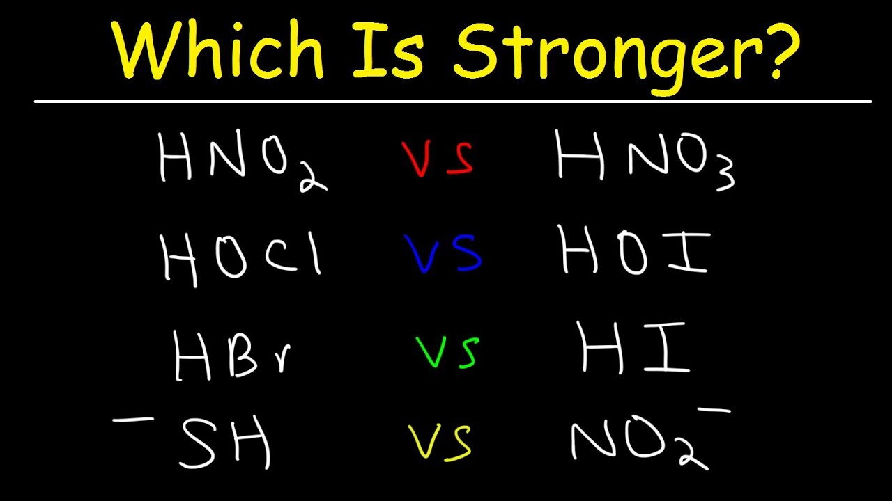 Which acid is stronger 98