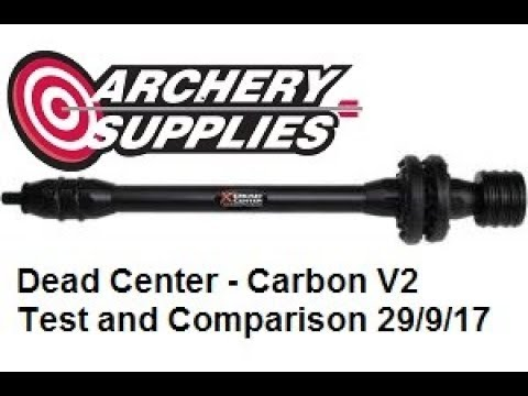 "Dead Center Archery Products Dead Silent Hunting Stabilizer Carbon V2 8/"" Black"
