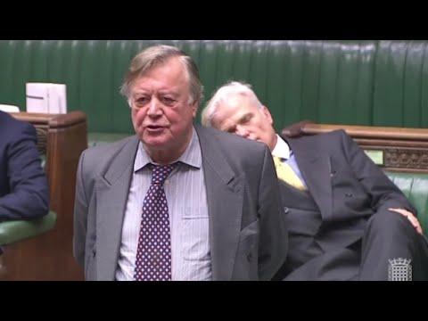 Has this MP fallen asleep during Ken Clarke's speech?