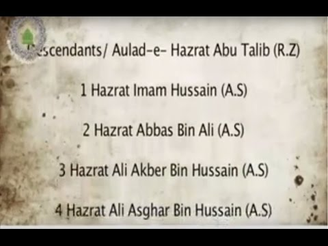 Names of 72 Martyrs of Karbala Shuhada e Karbala ke Naam - YouTube