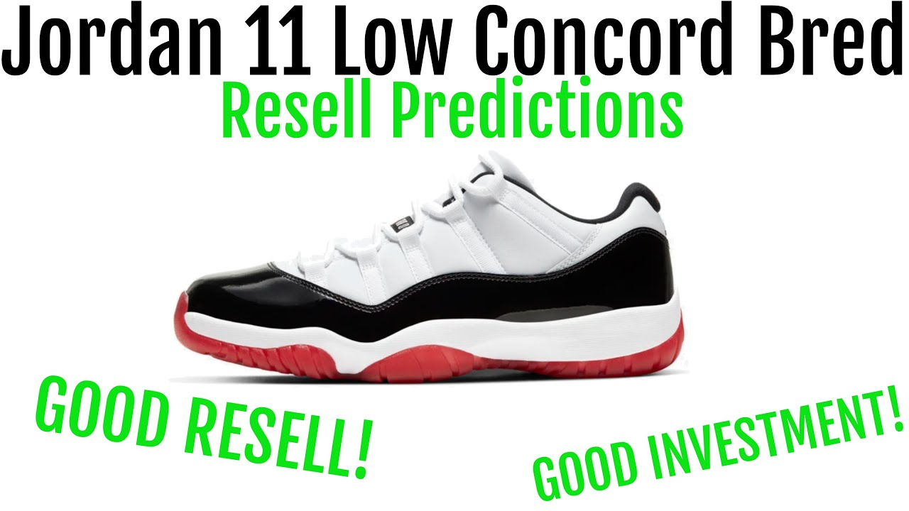 Jordan 11 Low Concord Bred Resell