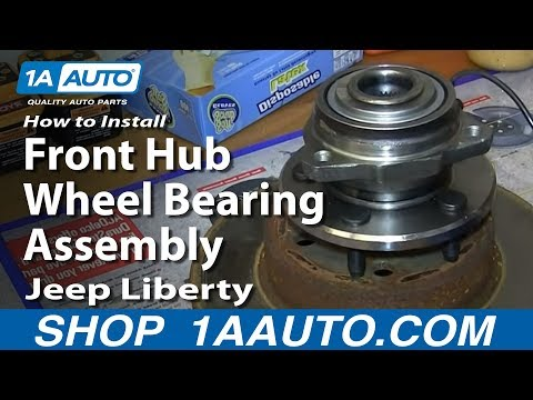 How To Install Replace Front Hub Wheel Bearing Assembly 2002-07 Jeep