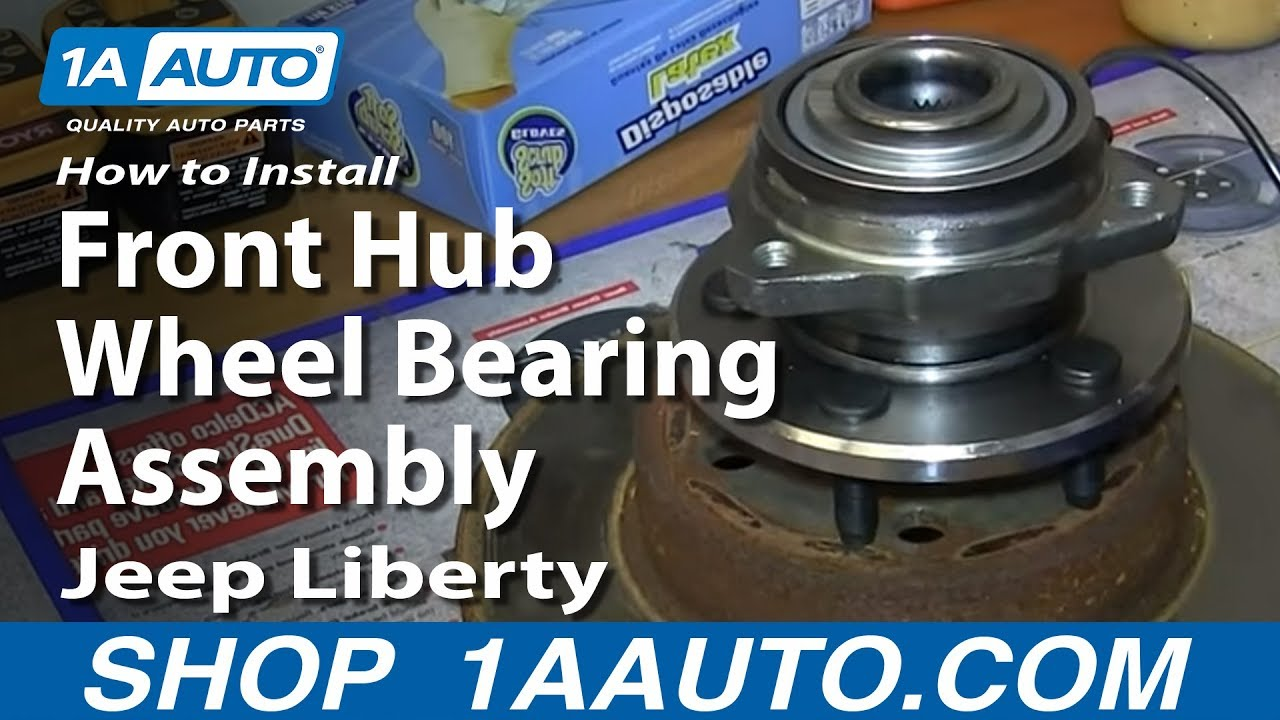 How To Install Replace Front Hub Wheel Bearing Assembly 2002 07 Jeep Liberty