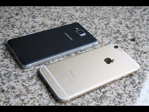 Apple iPhone 6 vs Samsung Galaxy Alpha Deutsch