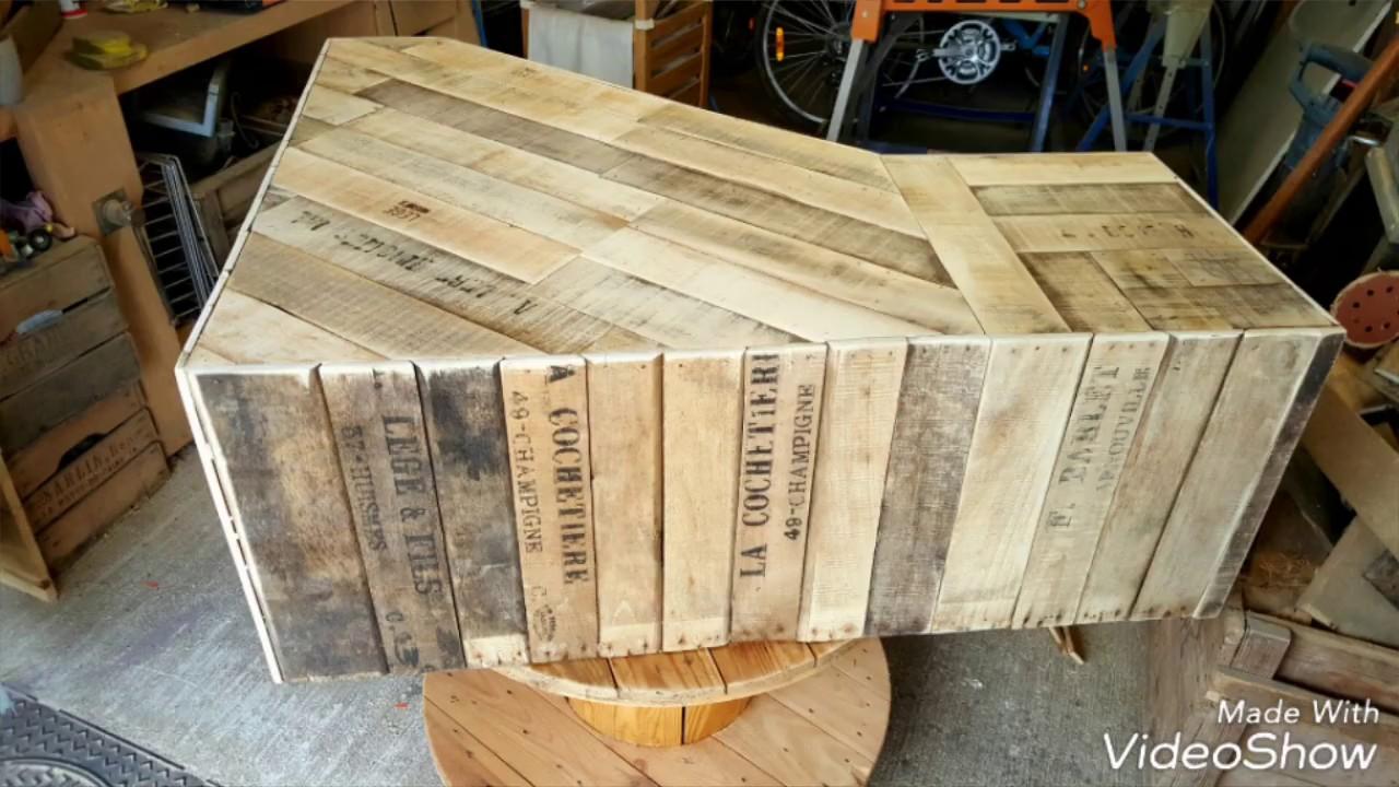 meuble tv recup caisses bois