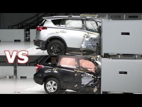 Top Cars Crash Test 2016 Toyota Rav4 Vs Subaru Forester