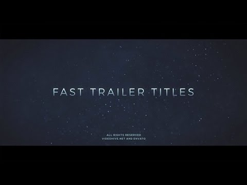 Fast Trailer Teaser | After Effects template