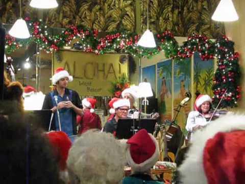 Island Bazaar Uke Shop Huntington Beach CA Christmas party 2009