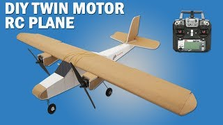 How To Make Twin Motor RC Model Airplane - DIY Brushless Motor Model Airplane.