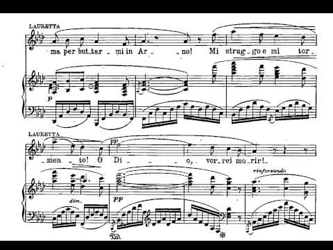 Puccini. O Mio Babbino Caro. Partitura e Interpretación.