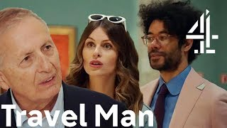 """He's Just Left!"" Richard Ayoade & Ellie Taylor WEIRD OUT Their Gallery Guide?! 