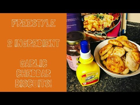 COOK with ME  ||  2 INGREDIENT DOUGH  ||  GARLIC CHEDDAR BISCUITS thumbnail