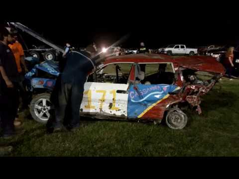 bolton ontario demoliton derby full size car ( with a mini in there) 2017