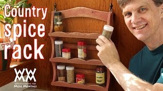 You can make this rustic charm spice rack using scrap wood or even free pallet wood, as I did. More information on this project and