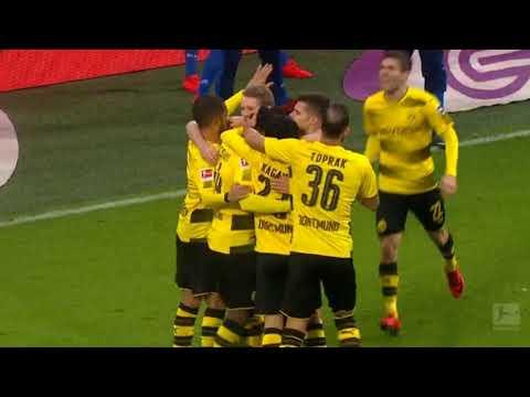 Michy batshuayi goal borussia dortmund vs hamburger sv bundesliga highlights