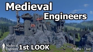 [Medieval Engineers] Destruction & Structural Integrity Medieval Engineers First Look Gameplay