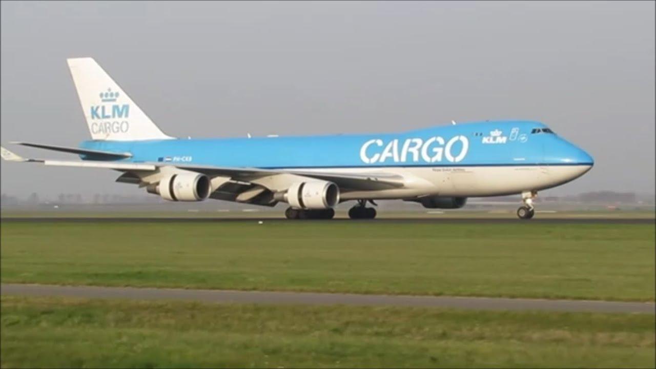 Klm cargo boeing 747 400f landing at amsterdam schiphol for Interieur 747 cargo