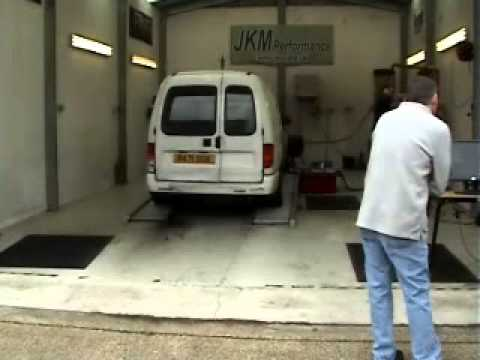 JKM-Dyno Seat Inca / VW Caddy Van with PD TDI engine & big turbo - 190hp power run