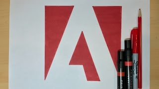 How to Draw the Adobe Logo | Logo Drawing