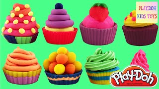 10 Playdoh Cupcakes Cookies Kids Kitchen Toys PlayDough Kids Crafts NEW