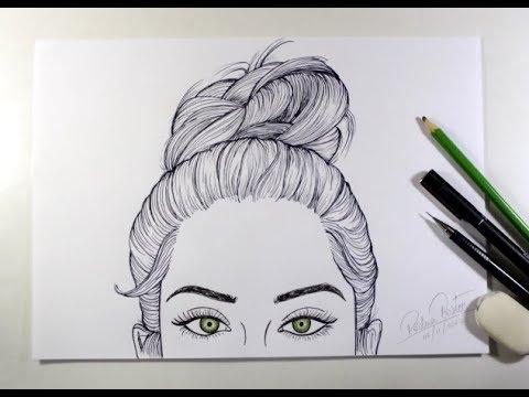 Como Desenhar Garota Estilo Tumblr 13 Youtube