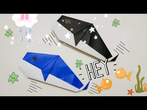 DIY Paper Origami - How to make whale origami easy 🐳