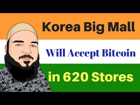 Episode #1 Cryptocurrency news - South Korea's Largest Mall Adds Bitcoin Payments to 620 Stores