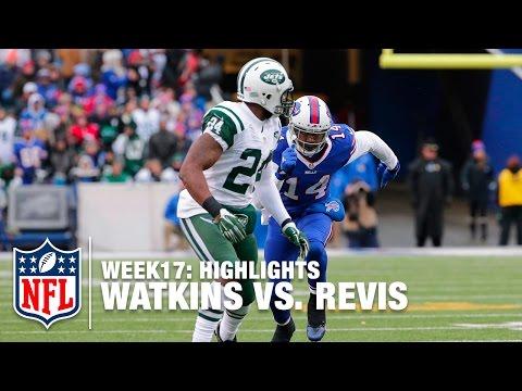 Sammy Watkins vs. Darrelle Revis | Jets vs. Bills | NFL Week 17 Highlights