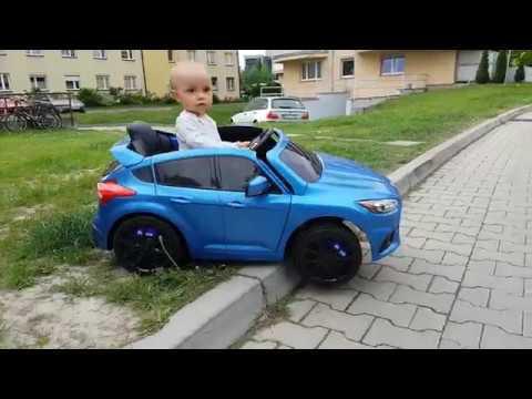Test Drive Ford Focus RS samochód elektryczny dla dzieci