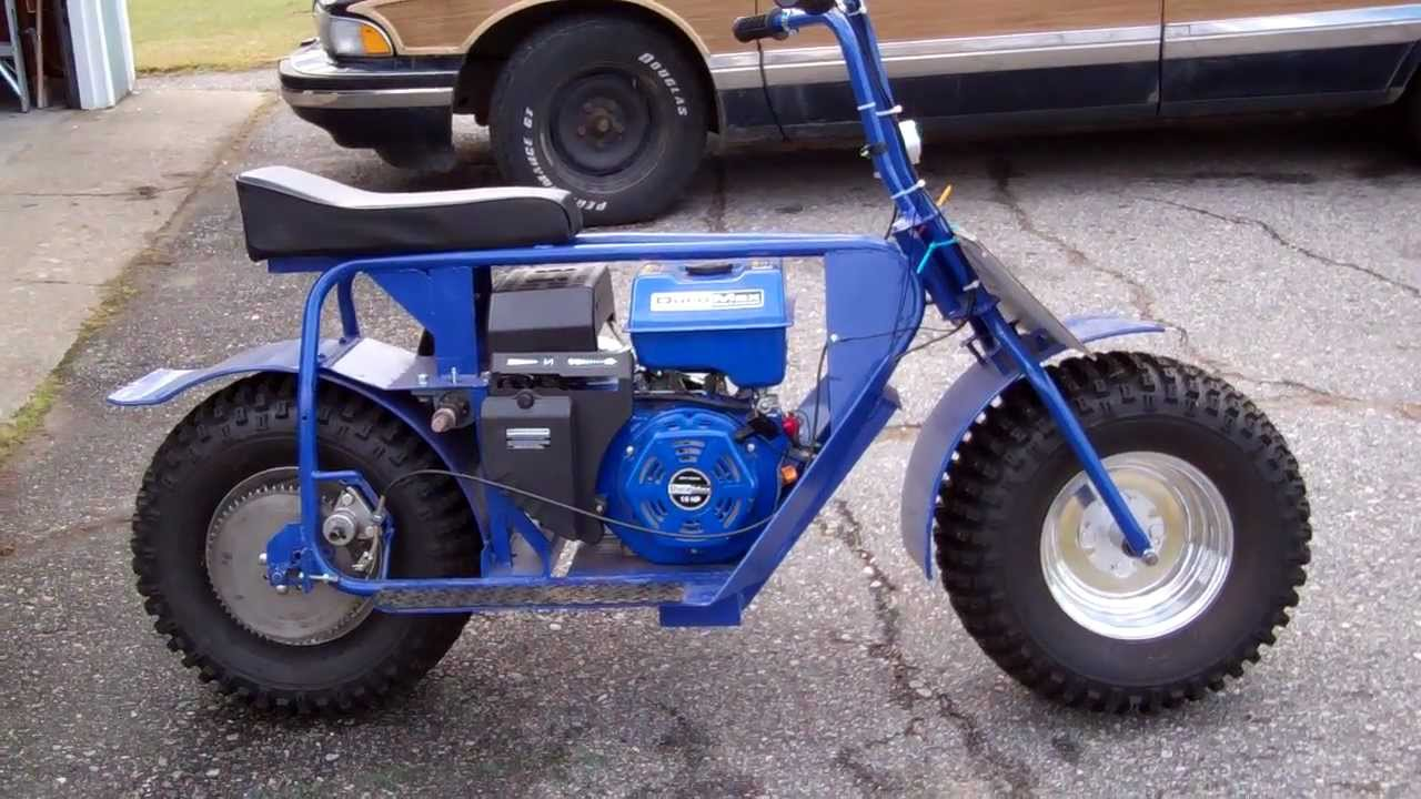 super broncbad dog mini bike youtube