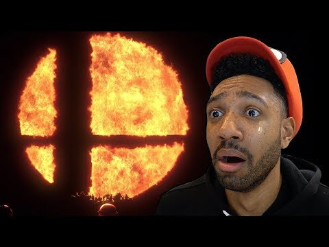 MY LIVE REACTION TO SUPER SMASH BROS ON NINTENDO SWITCH!!!!