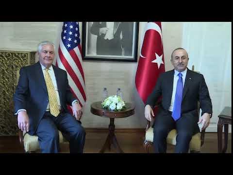 Secretary Tillerson at Camera Spray with Turkish Foreign Minister Cavusoglu