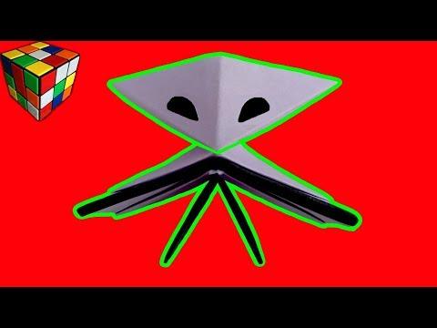 Как сделать инопланетянина из бумаги своими руками