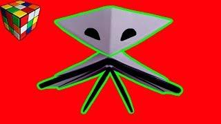 Как сделать ИНОПЛАНЕТЯНИНА из бумаги. Инопланетянин оригами своими руками. Поделки оригами