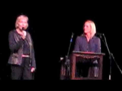 Kristina Wandzilak and Constance Curry speak at the Branson School in Marin