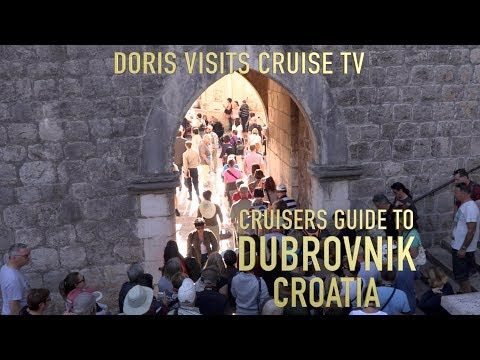 Dubrovnik, guide of the old walled city. Jean's for video Doris Visits