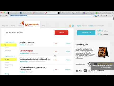 007 Where To Find Web Design  Development Jobs Part time, Full time  Freelance