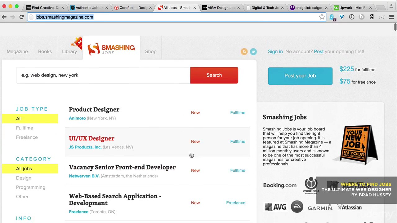 how to find freelance web design work