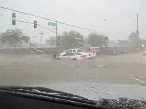 Driving in an Arizona Monsoon Flash Flood
