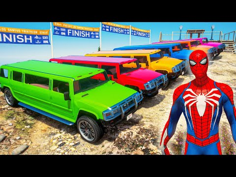 SPIDERMAN RACING CHALLENGE   PATRIOT STRETCH Cars Competition with All Superheroes #130  