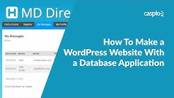How To Make a WordPress Website With a Database Application