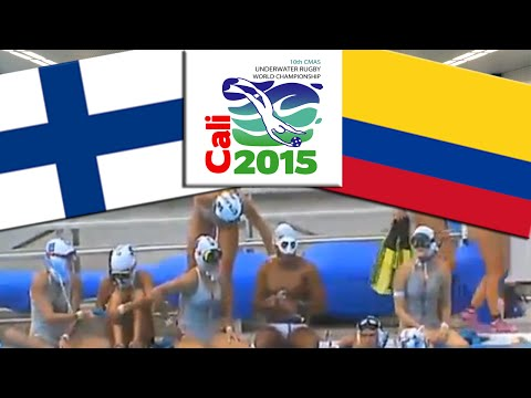 Place 3 | COLOMBIA - FINNLAND [WOMAN] | Underwater Rugby World Championship 2015