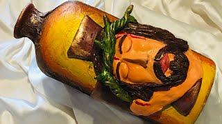 Bottle art with passion of the Christ/bottle art/ bottle decoration