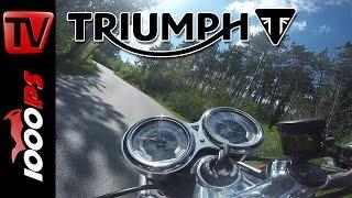 triumph thruxton r k ots erste ausfahrt motovlog part 1