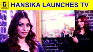 Hansika's Dazzling Photoshoot at Samsung Tv Launch | Hansika | Samsung